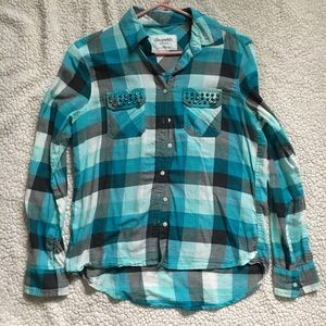 Aeropostale Plaid Flannel Cotton Button Down